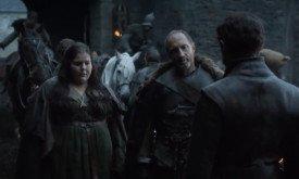В это время Русе Болтон воссоединяется с сыном и представляет ему свою молодую жену