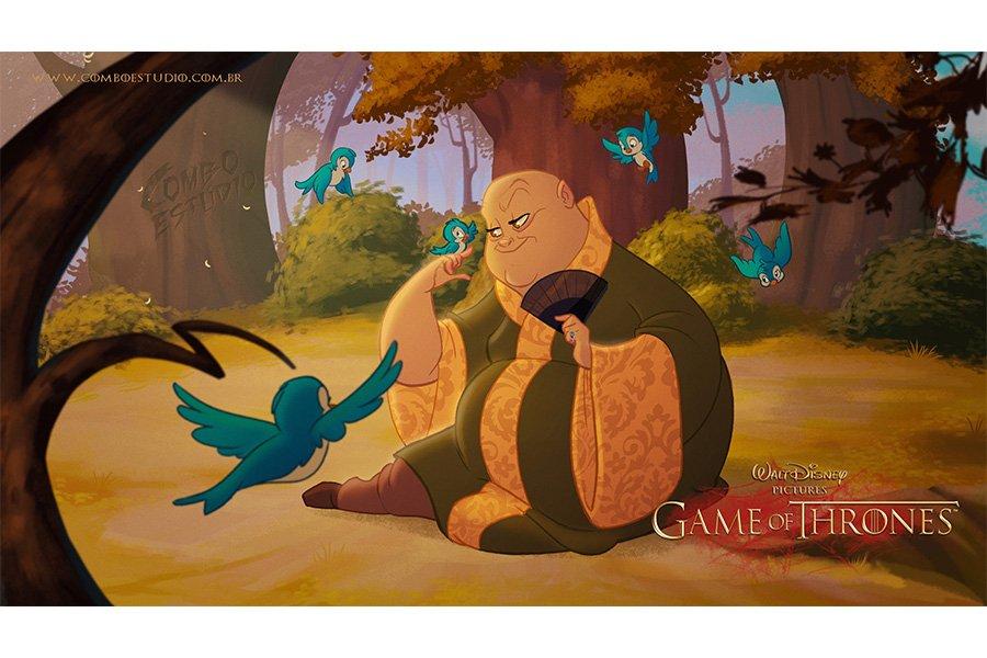 Портреты героев Игры престолов, стилизованные под кадры мультфильма Disney - 7Королевств