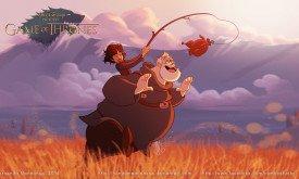 Бран и Ходор  в стиле Disney