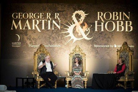 Джордж Мартин и Робин Хобб в Лондоне