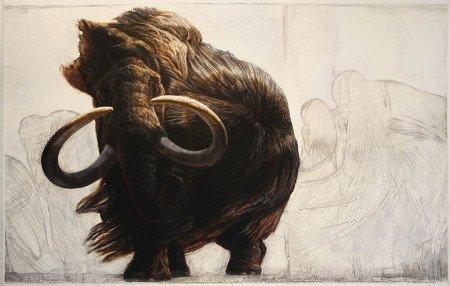 Рисунок-реконструкция мамонта, худ. братья Кеннисы
