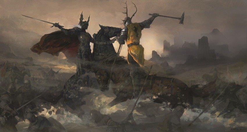 Битва на Трезубце, илл. Джастин Свит