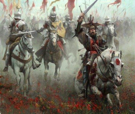 Битва на Краснотравном Поле, илл. из книги «Мир Льда и Пламени», худ. Хосе Даниэль Кабрера Пенья (José Daniel Cabrera Peña)