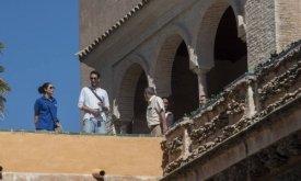 Севильский Алькасар, приготовления к съемкам (фото 5 октября 2014 г.)