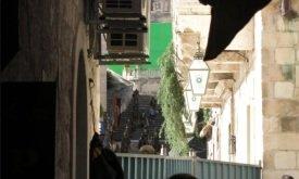 Съемки какой-то сцены на лестнице