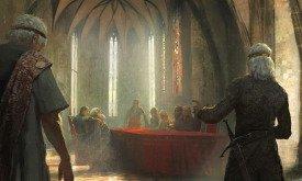 Эйгон III отправляет в отставку обоих своих регентов и десницу — лорда Мандерли
