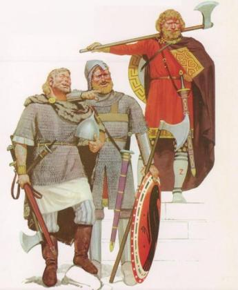 Варяги. Иллюстрация из книги «Warriors & Warlords» (худ. Angus Mcbride)