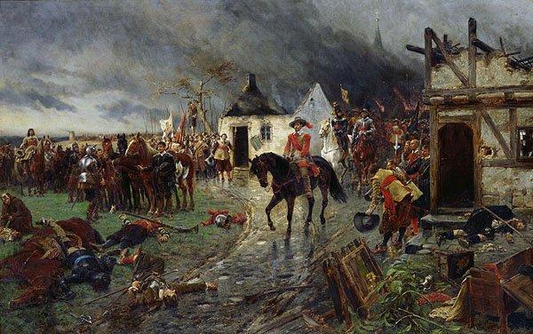 Валленштейн, Сцена из Тридцатилетней войны, худ. Эрнест Крофтс