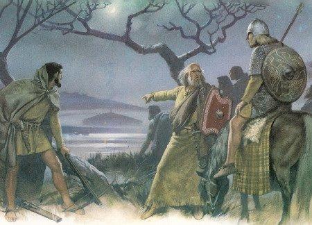 Охотник, вождь и знатный воин у пиктов. Иллюстрация из книги «Warriors & Warlords» (худ. Angus Mcbride)