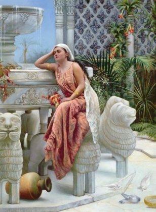 Восточный интерьер, худ. Магарет М. Куксли, 1894 г.