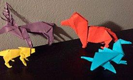 Оригами, пришедшие Джорджу Мартину несколько дней назад
