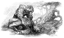 Иллюстрация к роману «Умирающий свет», худ. Том Кидд