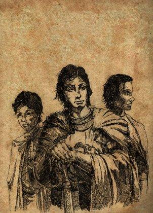 Rhaenyra's sons, Joffrey, Jacaerys and Lucerys