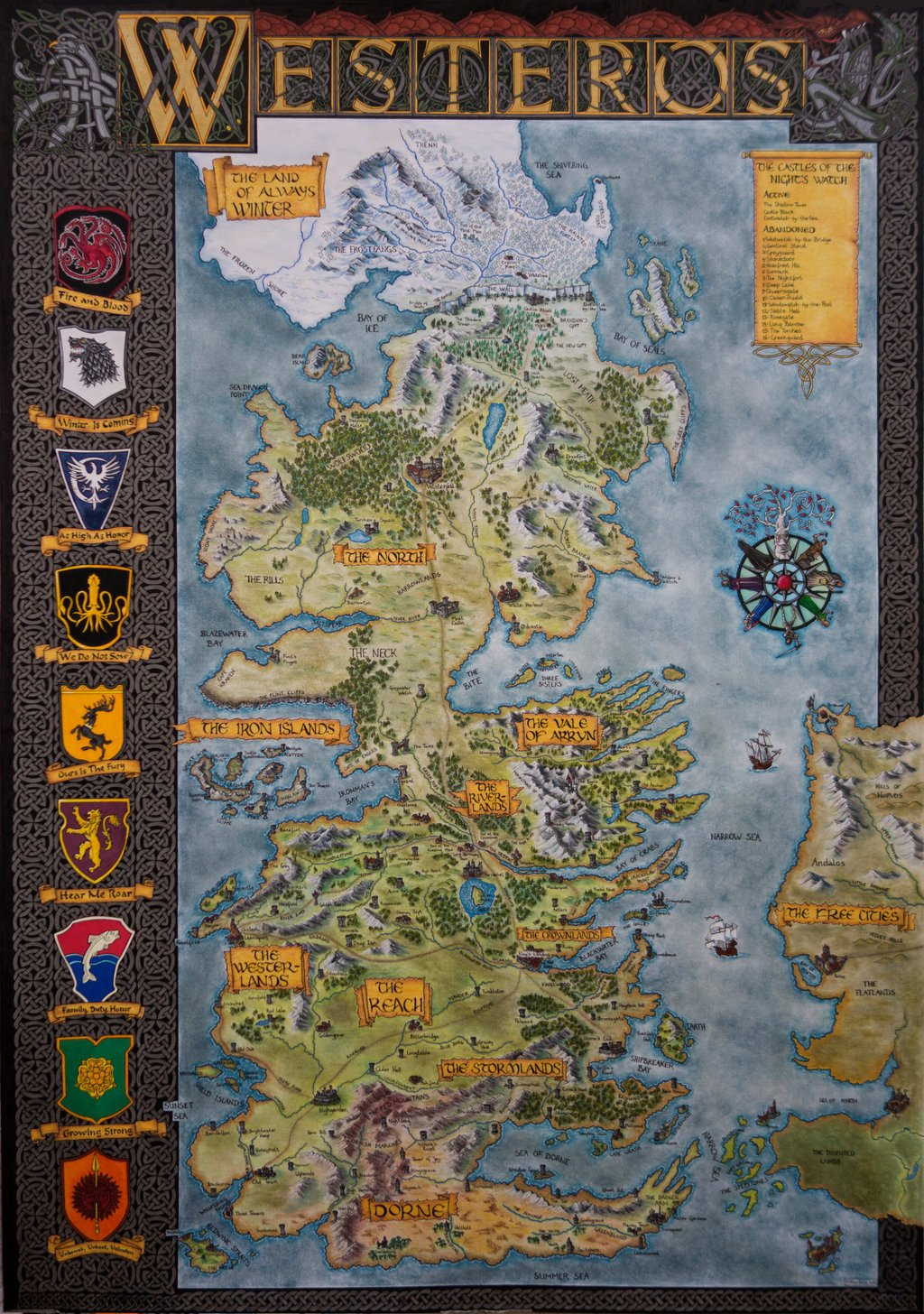 accounting westros ltd s purchase Hbo game of thrones map of westeros tan fabric $898 per yard $673 for a half yard zoom licensed by carnival film & television ltd to andover fabrics.
