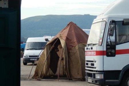 Дотракийский шатер возле студии в Белфасте