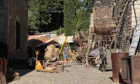 Приготовления к съемкам в Жироне, последняя неделя августа