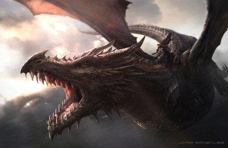 Эйгон верхом на драконе
