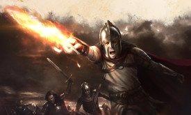 Гиркун Герой со Светозарным в руках ведет отважных соратников в бой