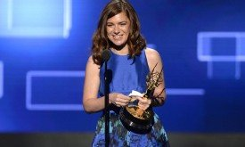 Команда Игры престолов со статуэтками технических номинаций:  Katie Weiland (монтаж)