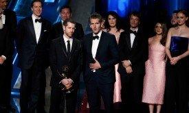 Беньофф и Вайс принимают награду за лучший драматический сериал
