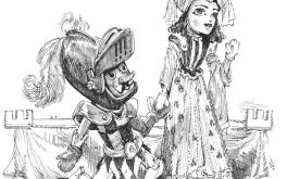Представление кукольников на Эшфордском лугу