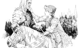Дунк разговаривает с Роанной на берегу Клетчатой реки