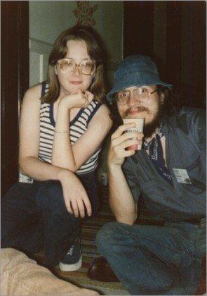 Джордж Мартин вместе с Лизой Татл в 1973 г.