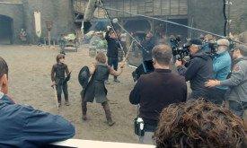 Сцена боя двух мальчиков: о кастинге на эти роли мы писали, это юные Брандон и Эддард (или Эддард и Бенджен?)