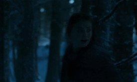 А вот здесь она бежит, спасаясь, по зимнему лесу