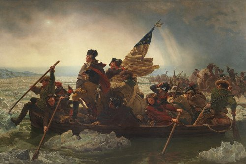 Джордж Вашингтон, переправляющийся через Делавэр