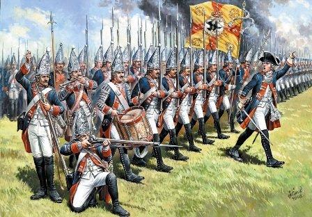 Прусские гренадеры в бою