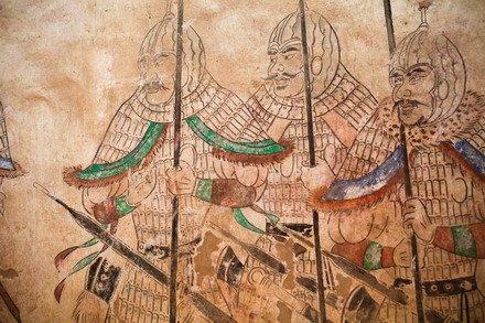 Фреска в мавзолее принцессы из династии Тан