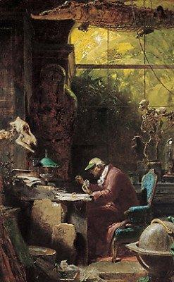 Картина Карла Шпицвега Естествоиспытатель