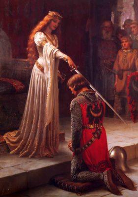 Посвящение в рыцари (худ. Фредерик Лейтон)