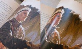 На этой фотографии хорошо видна и разница в цветопередаче, и блики на мелованной бумаге.