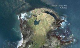 На карте показано, какие местности Испании и Северной Ирландии использовались при создании Драконьего Камня