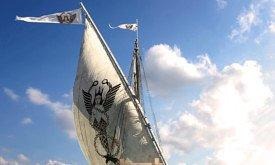 Корабль с гарпией работорговцев