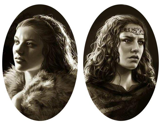 Алис (слева)  и Тиана (справа), худ. Мегали Вильнёв