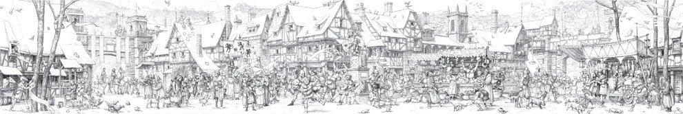 Панорама «Средневековый город»