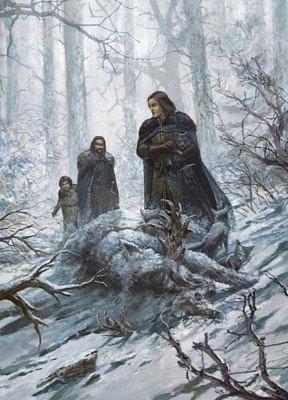 Старки находят мертвую волчицу