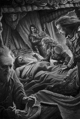 Роберт Баратеон при смерти