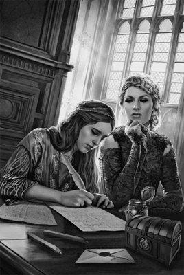 Серсея диктует Сансе письмо в Винтерфелл