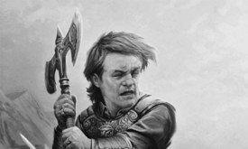 Тирион во время нападения горских племен в Долине Аррен