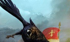 Ворон несет послание (вероятно изначально иллюстрация предназначалась для чего-то другого: такого герба в ПЛиО нет)
