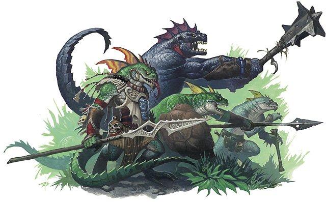 Ящеролюди, илл. Стива Прескотта для 4-го издания Dungeons & Dragons