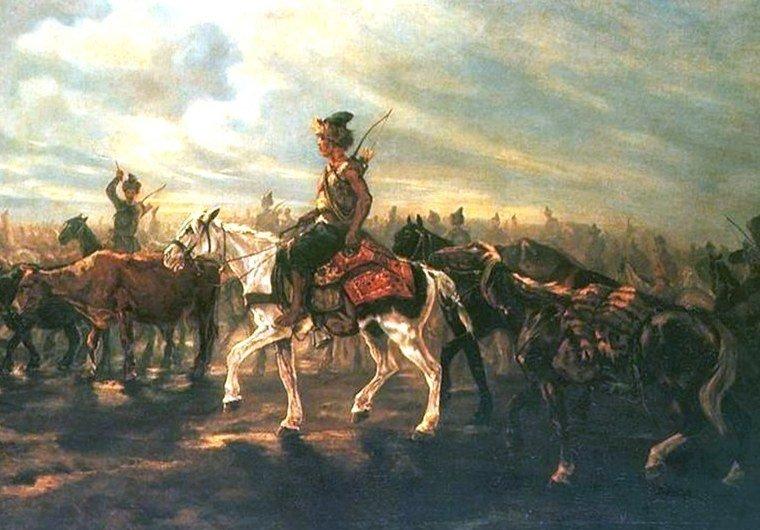 Поход крымских татар, худ. Ю. Брандт