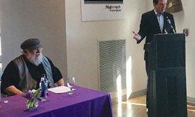 Джордж Мартин вместе с мэром Санта Фе открывают фонд кино «Дилижанс»