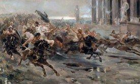 Вторжение варваров в Рим, худ. Ульпиано Чека