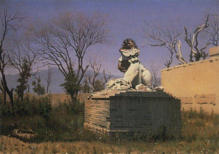 Развалины в Чугучаке, художник В. Верещагин