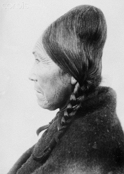 Индианка с деформированной головой, Северная Америка